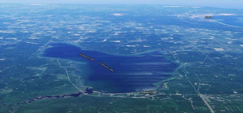 Hubbard Lake Arial View